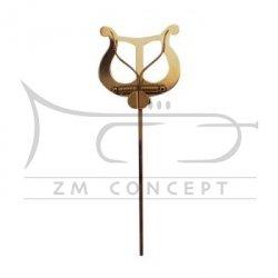 aS Pulpit, Lirka marszowa, pulcik mosiężny, duży, długi 30 cm, 01587072