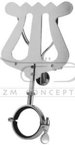 RUKA lirka do klarnetu, 1 przycisk z mocną sprężyną, 150x85 mm, niklowana