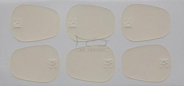 BG A11L naklejki gumki na ustnik 0,4mm 6 szt. przeźroczyste, duże