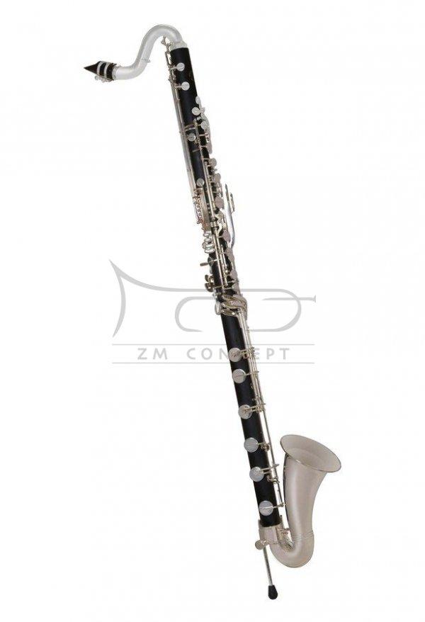 JOHN PACKER klarnet basowy Bb JP222, ABS, posrebrzane klapy, z futerałem