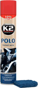 K2 POLO COCKPIT WIŚNIA + MIKROFIBRA 750ml do kokpitu