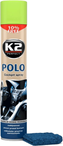 K2 POLO COCKPIT Z.JABŁKO + MIKROFIBRA 750ml do kokpitu