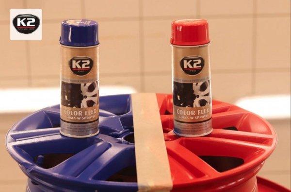 """K2 COLOR FLEX Guma w sprayu """"bezbarwny"""" 400ml"""