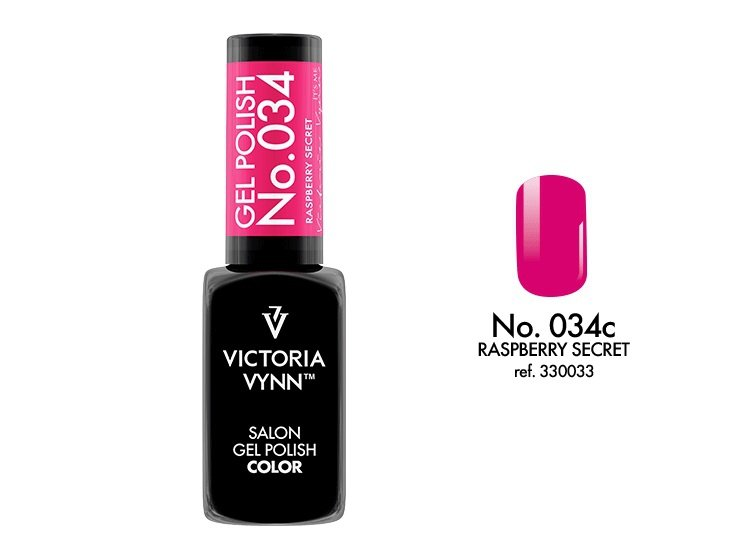 Victoria Vynn Lakier hybrydowy 034c 8ml RASPBERRY SECRET Gel Polish COLOR Victoria Vynn