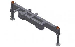 Rama podporowa 2 Hydrauliczne nogi , Obracane ,Hydrauliczny  wysuw 3300mm