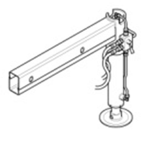 Druga Hydrauliczna noga ,mechanicznie wysuwana ,Obracana
