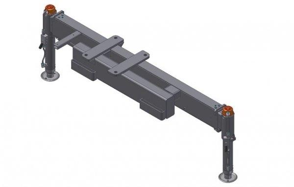 Rama podporowa 2 Hydrauliczne nogi, Hydrauliczny wysuw 3300mm