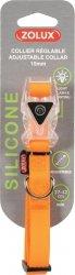 Zolux Obroża silikonowa świecąca - regulowana pomarańczowa 27-42cm/15mm
