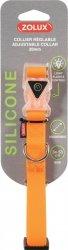 Zolux Obroża silikonowa świecąca - regulowana pomarańczowa 34-53cm/20mm