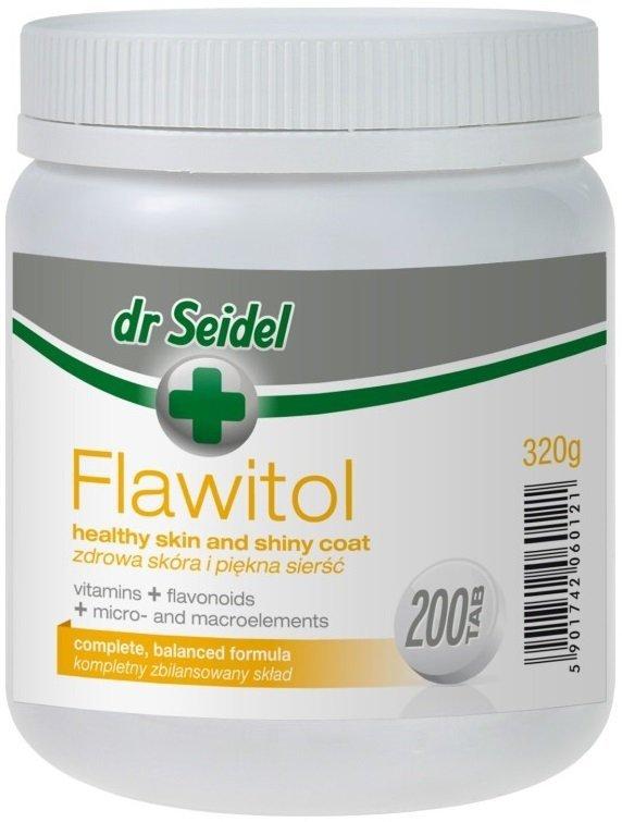 Dr Seidel Flawitol Zdrowa skóra i sierść 200 tab.