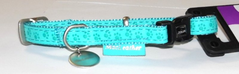 Obroza regulowana Mac Leather 10mm turkusowa