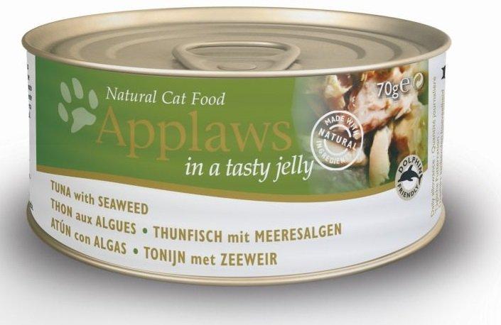 Applaws Cat Tuńczyk z wodorostami w galaretce 24x70g
