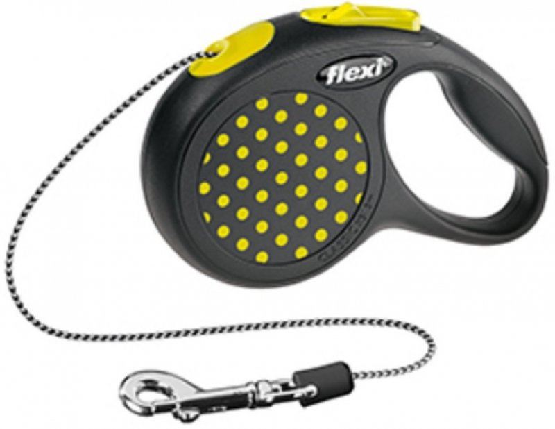 Flexi Design XS linka 3m - do 8kg - żółta