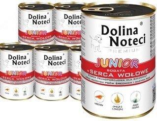 Dolina Noteci Premium Junior Bogata w serca wołowe 12x400g