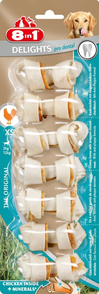 Przysmak 8in1 Dental Delights Bones XS 7szt.