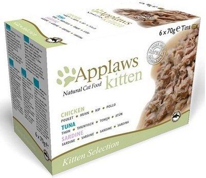 Applaws Multipack Kitten - puszki dla kociąt - 6x70g