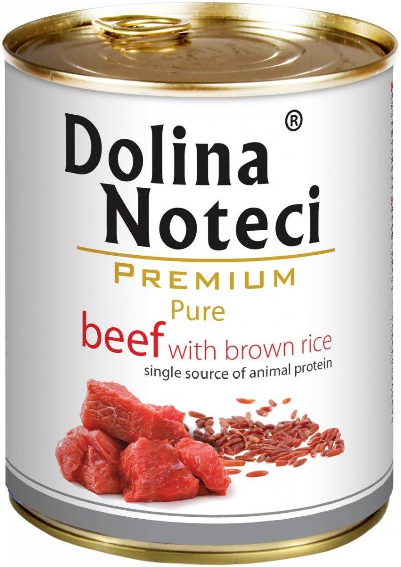 Dolina Noteci Premium Pure Wołowina z brązowym ryżem 6x800g