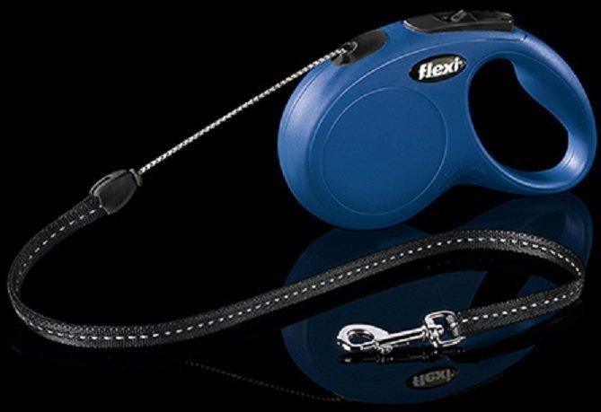 Flexi New Classic linka S 5m niebieska - smycz automatyczna