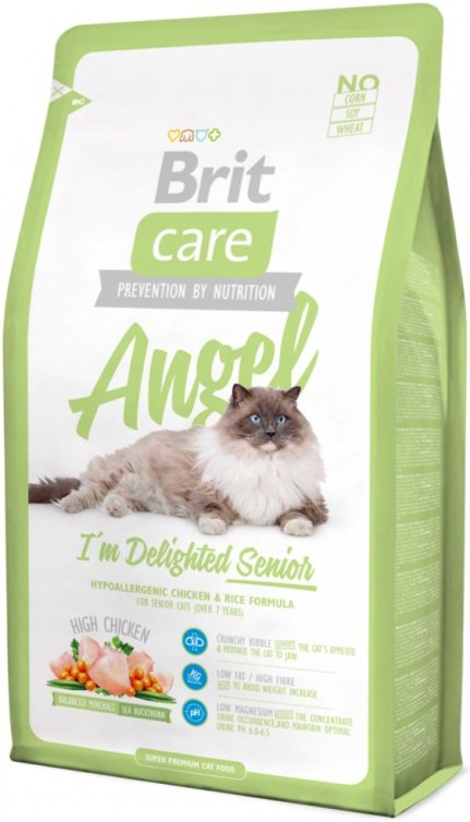 Brit Care Cat Angel I´m Delighted Senior - kurczak i ryż 2kg