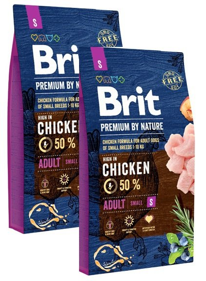 Brit Premium By Nature Small Adult S 2x8kg