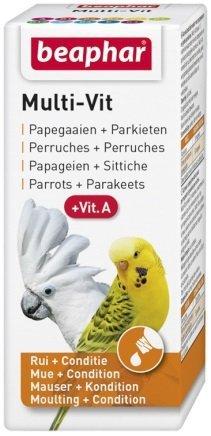 Beaphar Bogena Multi-Vit Parrots & Parakeets - preparat witaminowy dla papug 20ml
