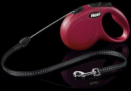 Flexi New Classic linka S 8m czerwona - smycz automatyczna