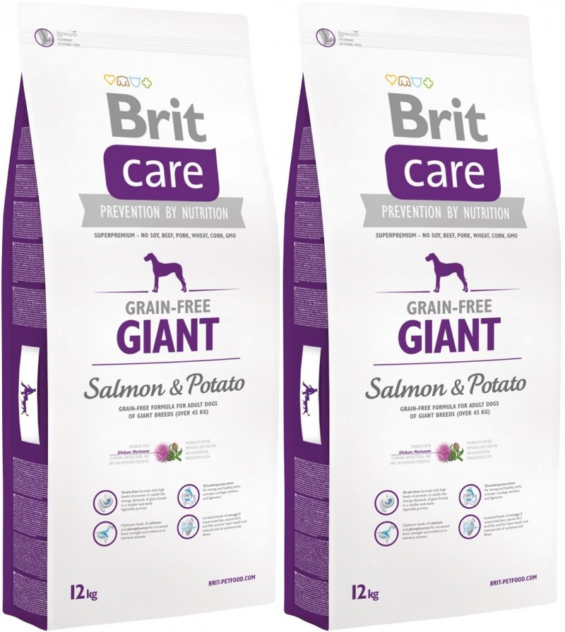 Brit Care Giant Grain Free Salmon & Potato 2x12kg (24kg)