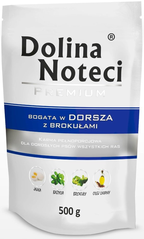Dolina Noteci Premium Bogata w dorsza z brokułami 10x500g