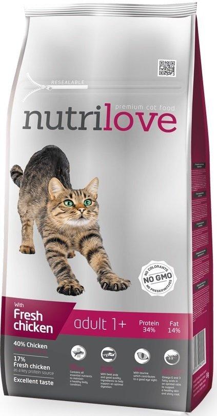 Nutrilove Premium Adult 1+ ze świeżym kurczakiem 8kg