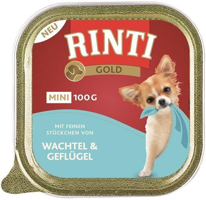 Rinti Gold Mini Przepiórka i Drób 8x100g