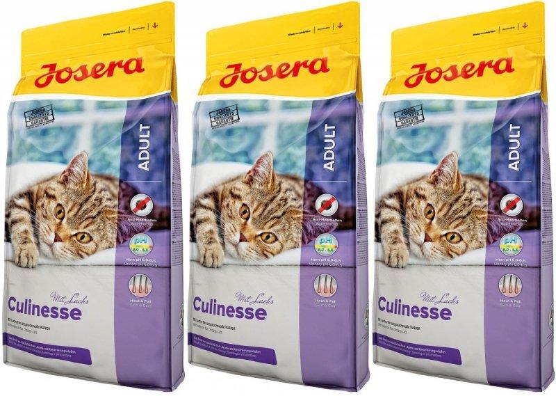 Josera Culinesse - z drobiem i łososiem dla wymagających kotów 3x10kg (30kg)