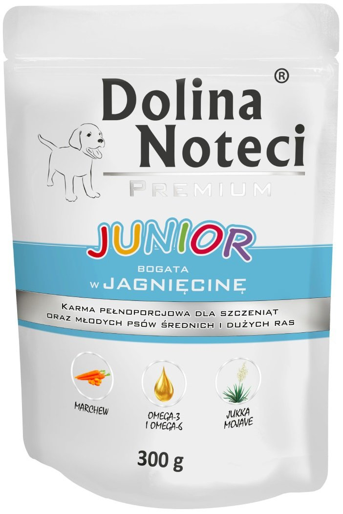 Dolina Noteci Premium Junior Bogata w jagnięcinę 10x300g