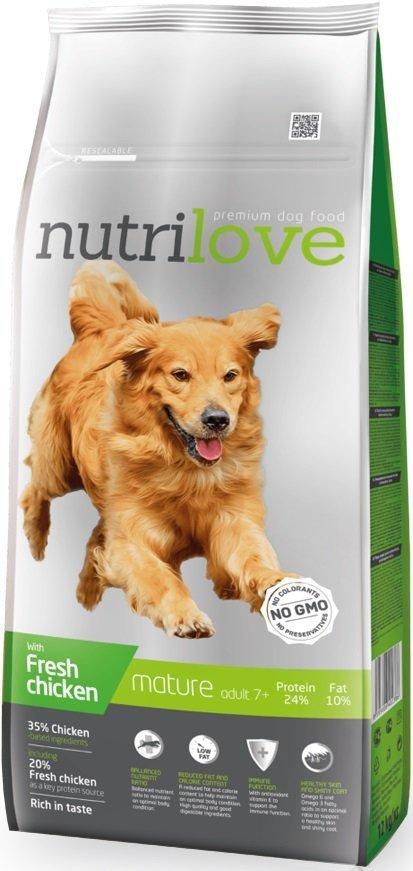 Nutrilove Premium Mature +7 - ze świeżym kurczakiem 2x12kg (24kg)