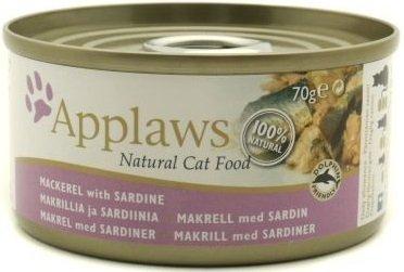 Applaws puszka dla kota Makrela z Sardynką 24x70g