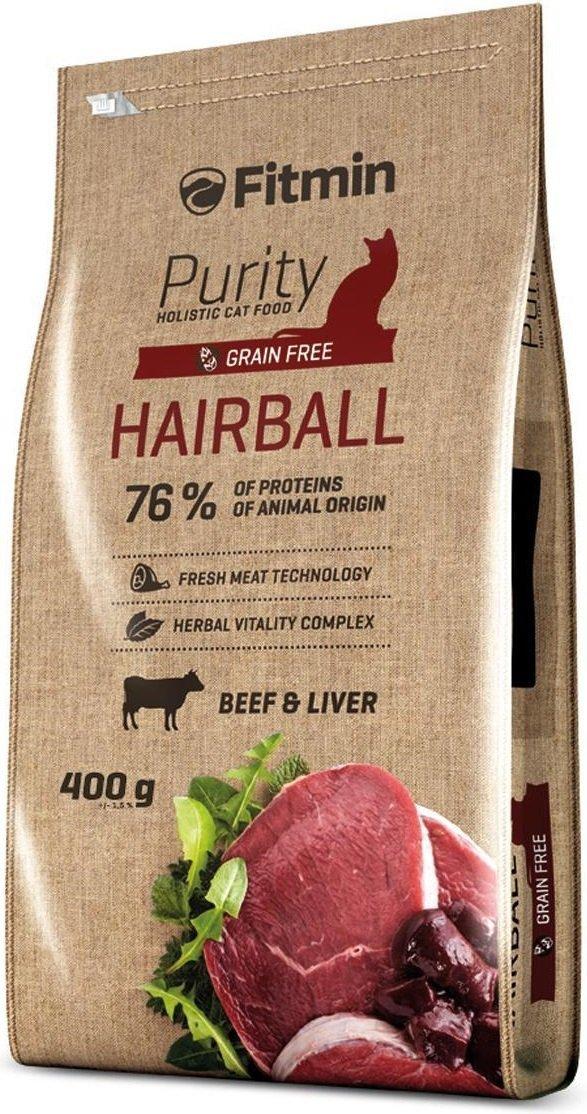 Fitmin Purity Hairball - karma dla kotów dorosłych i długowłosych 400g