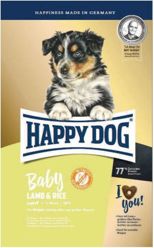 Happy Dog Young Baby Lamb & Rice 10kg