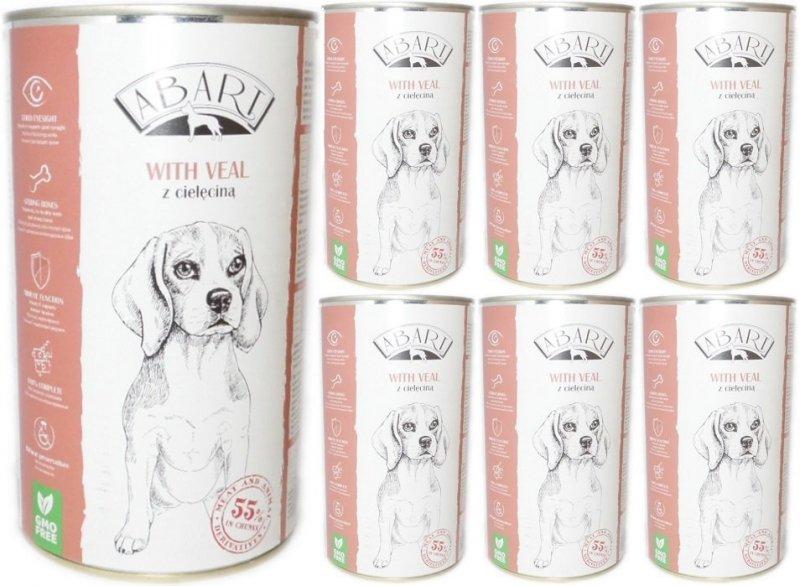 Abart Dog with Veal - 55% mięsa - Cielęcina w sosie 24x1240g