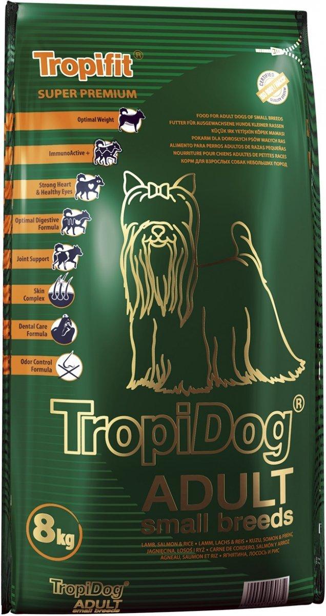 Tropidog Super Premium Adult Small Breeds Lamb&Salmon&Rice 8kg