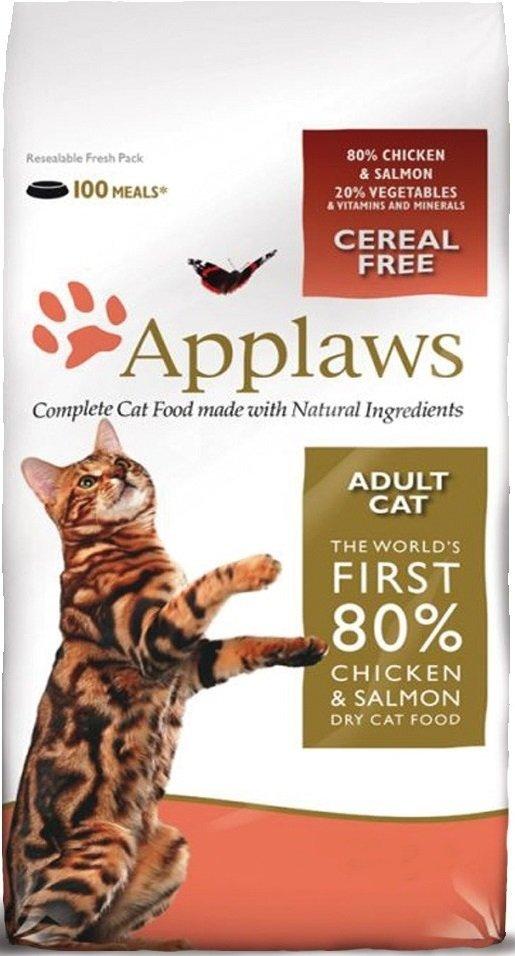 Applaws Sucha karma dla kotów z kurczakiem i łososiem 7,5kg