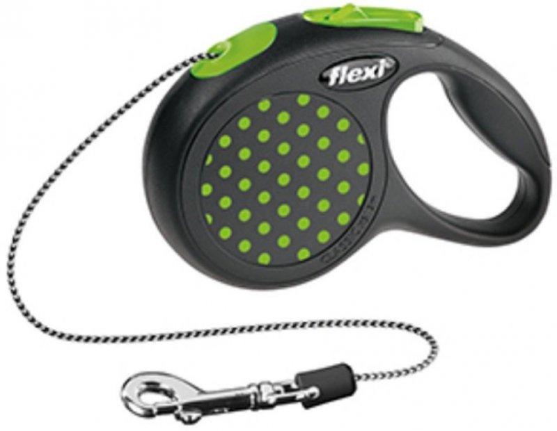 Flexi Design XS linka 3m - do 8kg - zielona
