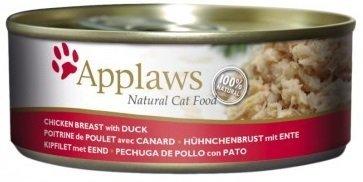 Applaws Cat Pierś z kurczaka z kaczką - puszka dla kota 24x156g