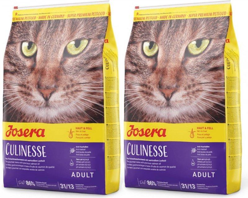 Josera Culinesse - z drobiem i łososiem dla wymagających kotów 2x10kg (20kg)