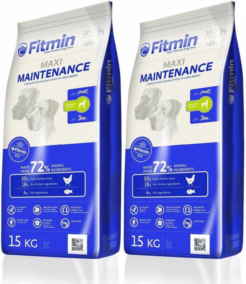 Fitmin Program Maxi Maintenance - karma dla psów dużych ras ze średnią zawartością energii 2x15kg (30kg)