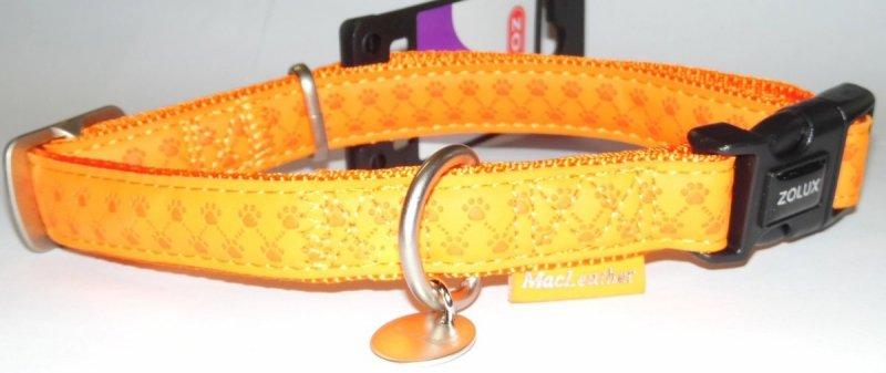 Obroża regulowana Mac Leather 25mm pomarańczowa
