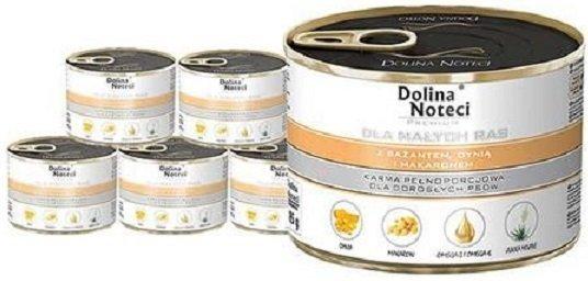 Dolina Noteci Premium Dla małych ras Z bażantem, dynią i makaronem 12x185g
