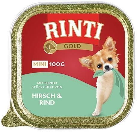 Rinti Gold Mini Jeleń i Wołowina 16x100g