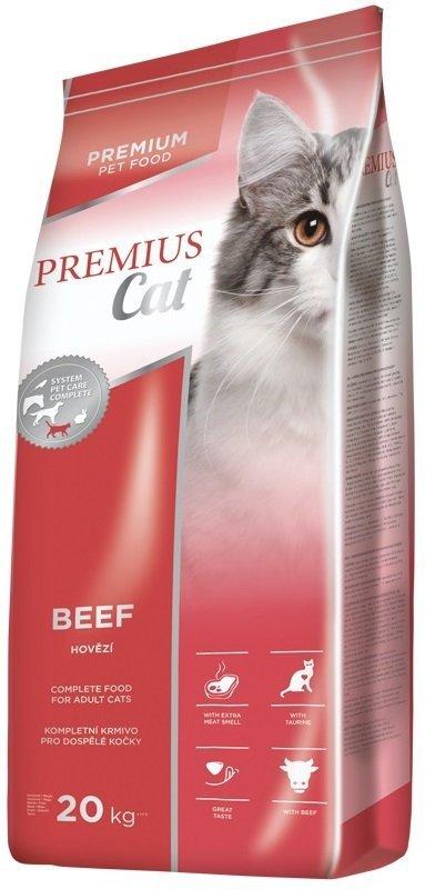 Premius Beef - Pełnoporcjowa karma dla kotów dorosłych z wołowiną 20kg