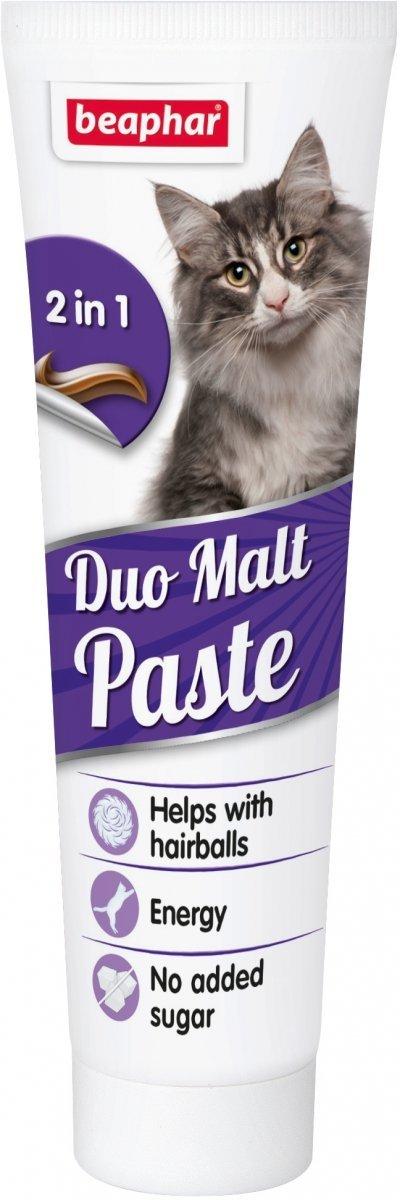 Beaphar Malt Paste - pasta przeciw tworzeniu się złogów sierści w żołądku 100g