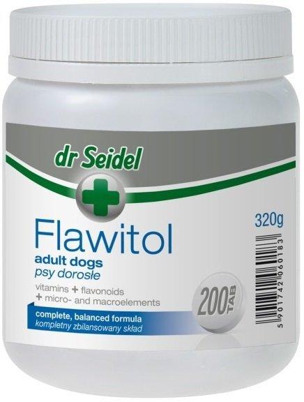 Dr Seidel Flawitol dla dorosłych psów 200 tab.