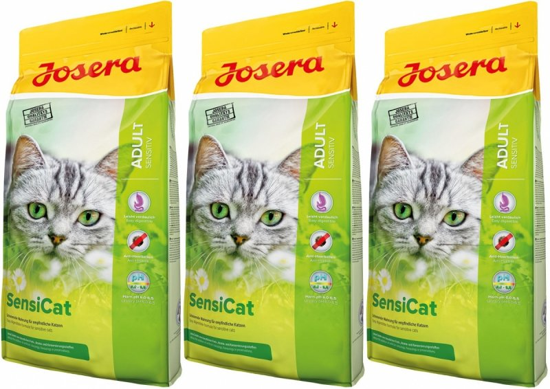 Josera SensiCat dla wybrednych i wrażliwych kotów 3x10kg (30kg)